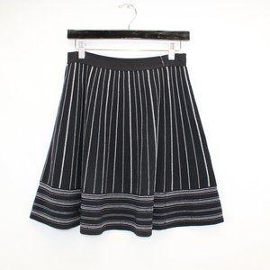 Kate Spade Black & White Stripe Knit Skirt